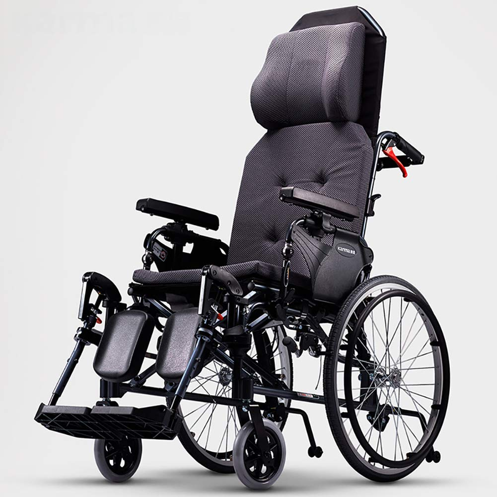 自走用車いすドライブ医学アルミニウム3dヘッドレストの後部Armrestは持ち上がることおよび折りたたみ携帯用を下げることができます   B07P5SDWYL