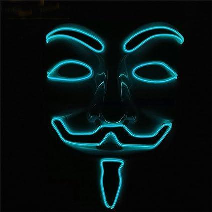Máscara de CALISTOUS de V de Vendetta (Guy Fawkes) hecha de LED