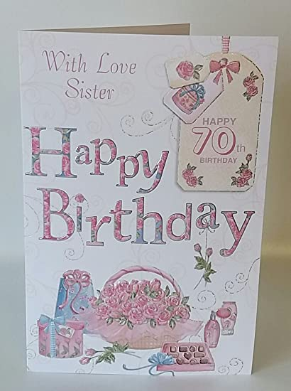 Amazon With Love Sister Happy 70th Birthday Card Office Products