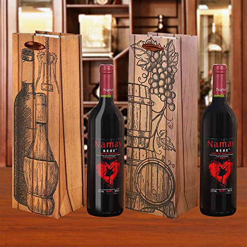 Tellpet Wine Gift Bags, Exclusive Design Single Bottle Wine Tote, 12pcs by tellpet (Image #3)
