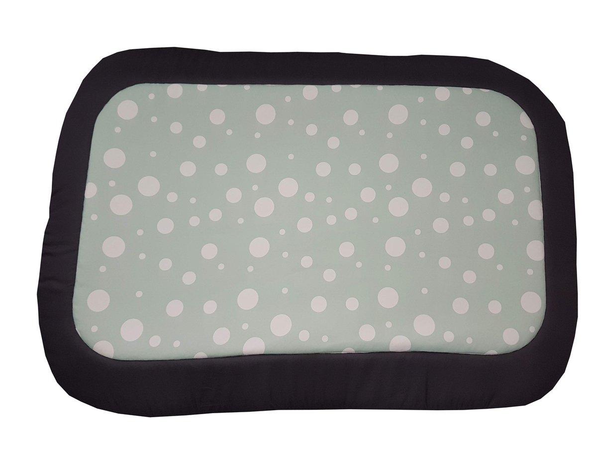 Caseta/alfombra/colchón Perros a lunares grigioverde, un solo panel: Amazon.es: Hogar