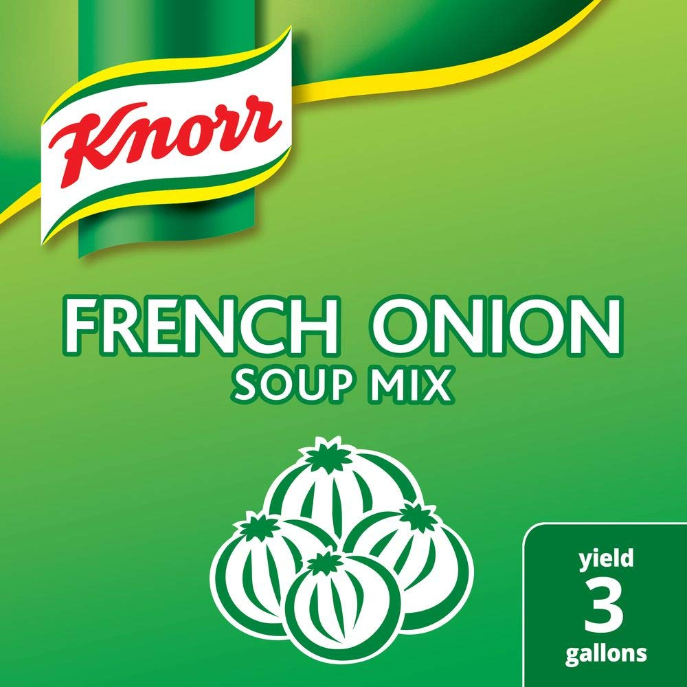 Knorr Professional French Onion Soup Mix Loaded with Real Onions, No Artificial Flavors, No added MSG, 0g Trans Fat, 20.98 oz, Pack of 6 by Knorr