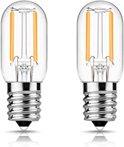 DORESshop E17 LED Bulb for Microwave Oven Appliance, 20W Incandescent Equivalent, 20 Watt Appliance Bulb, Salt Lamp, Warm White 2700K, Non-dimmable, Pack of 2