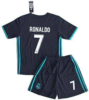 5c27958ad Amazon.com  New  7 Ronaldo 2017 2018 Real Madrid Away Jersey   Shorts For  Kids Youths (9-10 Years Old)  Clothing
