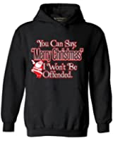 Awkwardstyles You Can Say Merry Christmas Hoodie Xmas Santa Sweatshirt