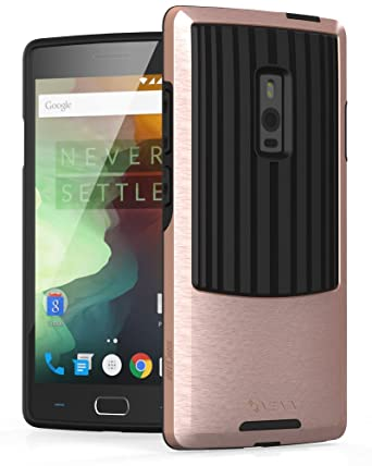 OnePlus 2 Case, VENA [Outcross][Heavy Duty | Shockproof] Dual Layer Hybrid PC Bumper Case Cover for OnePlus Two - Rose Gold