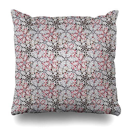 (Ahawoso Throw Pillow Cover Pillowcase Mode Bend White Black Abstract Curve Complex Crack Curls Curvature Design Sketch Home Decor Design Square Size 16