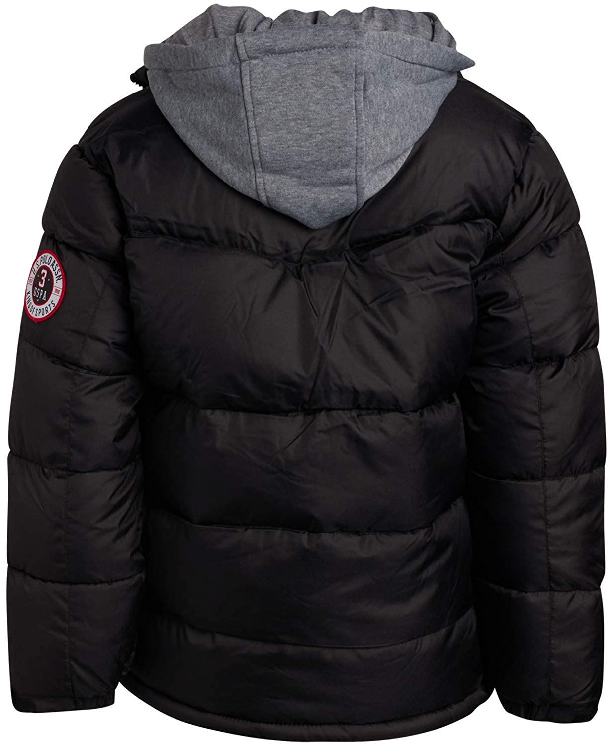 new products for search for original cheapest sale Amazon.com: U.S. Polo Assn. Boys Polar Fleece Lined Puffer ...