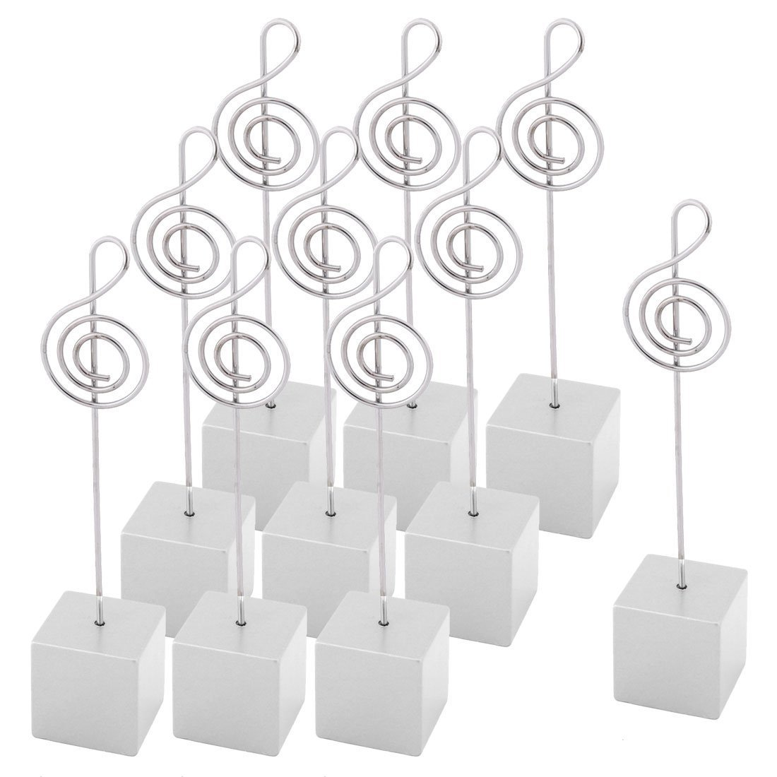 Sourcingmap® resina wedding party Table Decor a forma di nota musicale foto memo clip 10pz bianco SYNCFHK028179