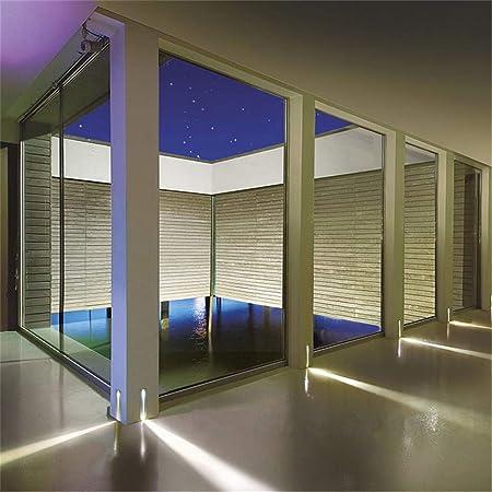 ZHANGY 3w empotrada luz de Escalera LED Ac85-265v Interior Ip20 Exterior Ip65 Esquina Luces de Pared escaleras escalón Escalera Pasillo Escalera lámpara: Amazon.es: Deportes y aire libre