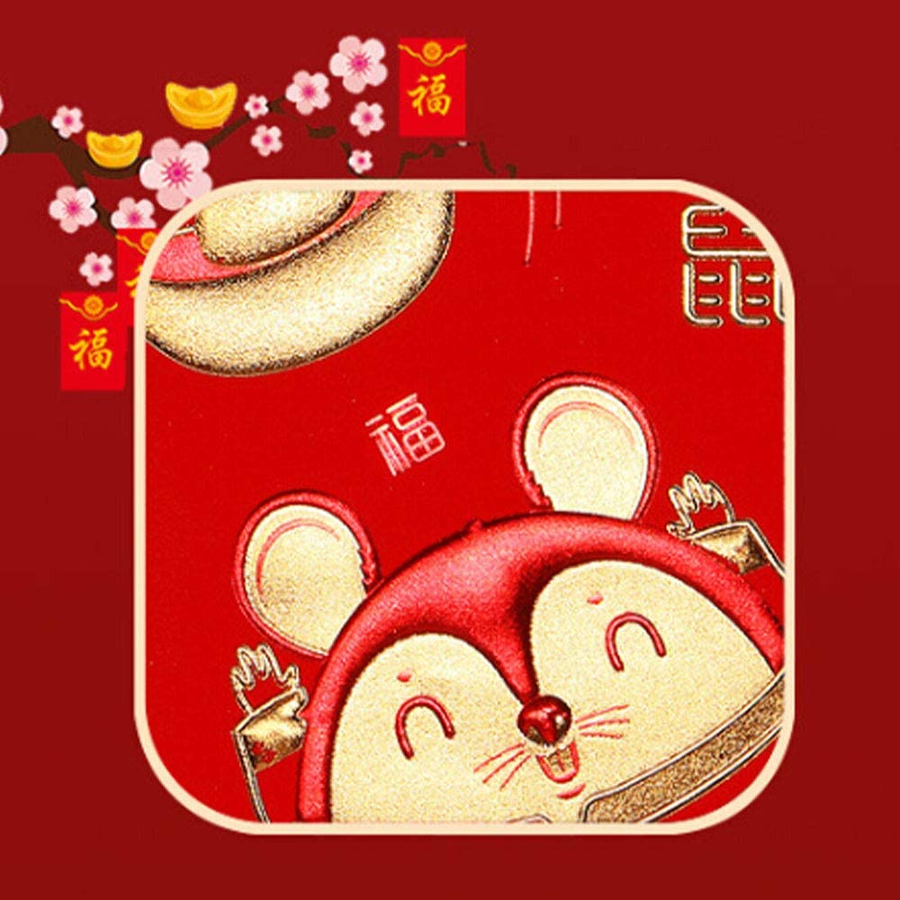 Indstry968 Cartoon Zodiac Red Envelope 2020 Chinese New Year Envelope Designs Money Holder for Christmas Easter Birthday Wedding Invitation Envelopes /ï/¼/ˆ24 Pack/ï/¼/‰