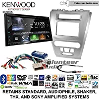 Volunteer Audio Kenwood Excelon DDX6904S Double Din Radio Install Kit with Satellite Bluetooth & HD Radio Fits 2010-2012 Fusion (Silver)