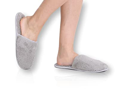Pembrook Ladies Slippers With Memory Foam   Gray   L XL  9 10 5. Amazon com   Pembrook Ladies Slippers With Memory Foam   Fuzzy