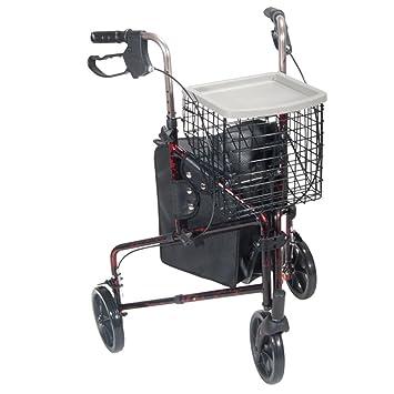 Amazon.com: 10289bl – 3 Rueda Andador Rollator Con Cesta ...