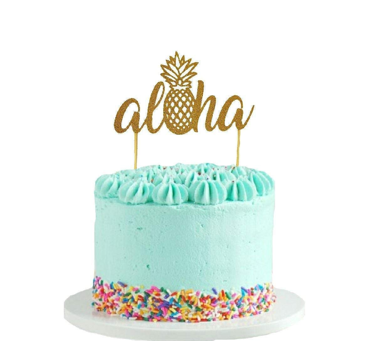 Astounding Amazon Com Aloha Cake Topper Aloha Cake Topper Tropical Party Funny Birthday Cards Online Barepcheapnameinfo