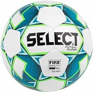 Select Super Ballon de Futsal Adulte Unisexe, White/Blue, Official Size