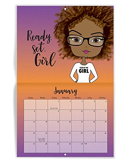 African American Calendar Inspirational Quotes Motivational Confidence Positive Monthly Daily Wall Desk Calendar 2019