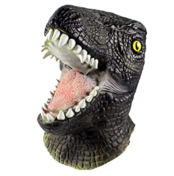 XIAHE Jurassic World Máscara Periférica Cos Raptor Animal Headgear Halloween Dinosaur Headgear Animal Prehistórico
