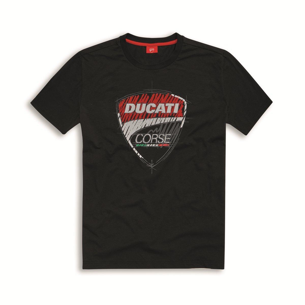 Ducati Corse Sketch T-shirt Black Size Large