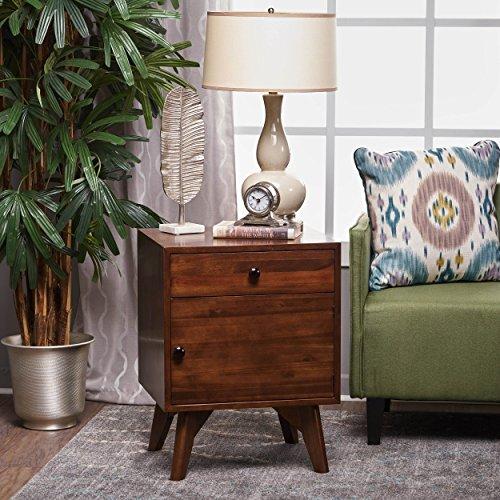 Christopher Knight Home 300895 Cheri Acacia Wood Cabinet, Walnut