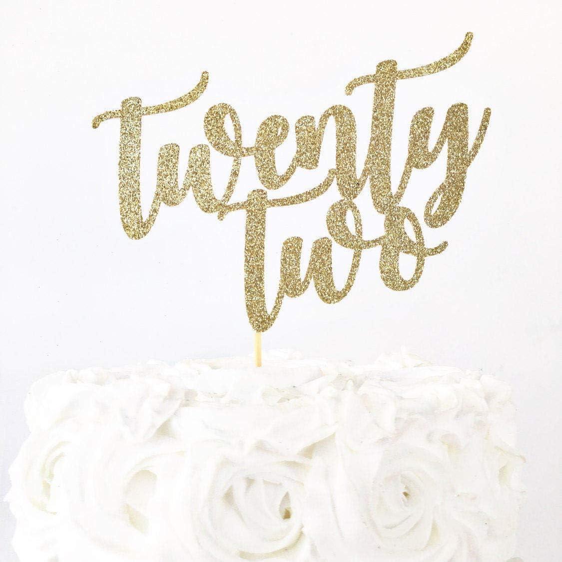 Cool Twenty Two Cake Topper 22 Years Old 22Nd Birthday Feeling 22 Personalised Birthday Cards Akebfashionlily Jamesorg