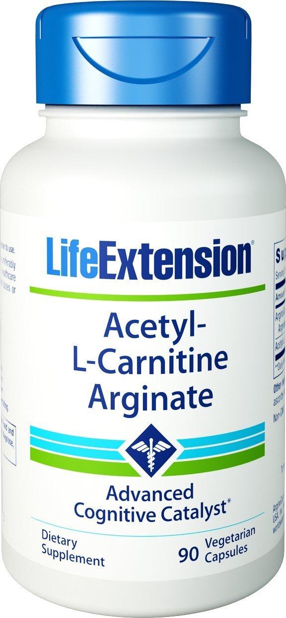 Life Extension Acetyl-L-Carnitine Arginate 90 Vegetarian Capsules