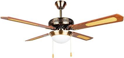 Ventilador de techo 52 con lámpara tipo plafon: Amazon.es: Hogar