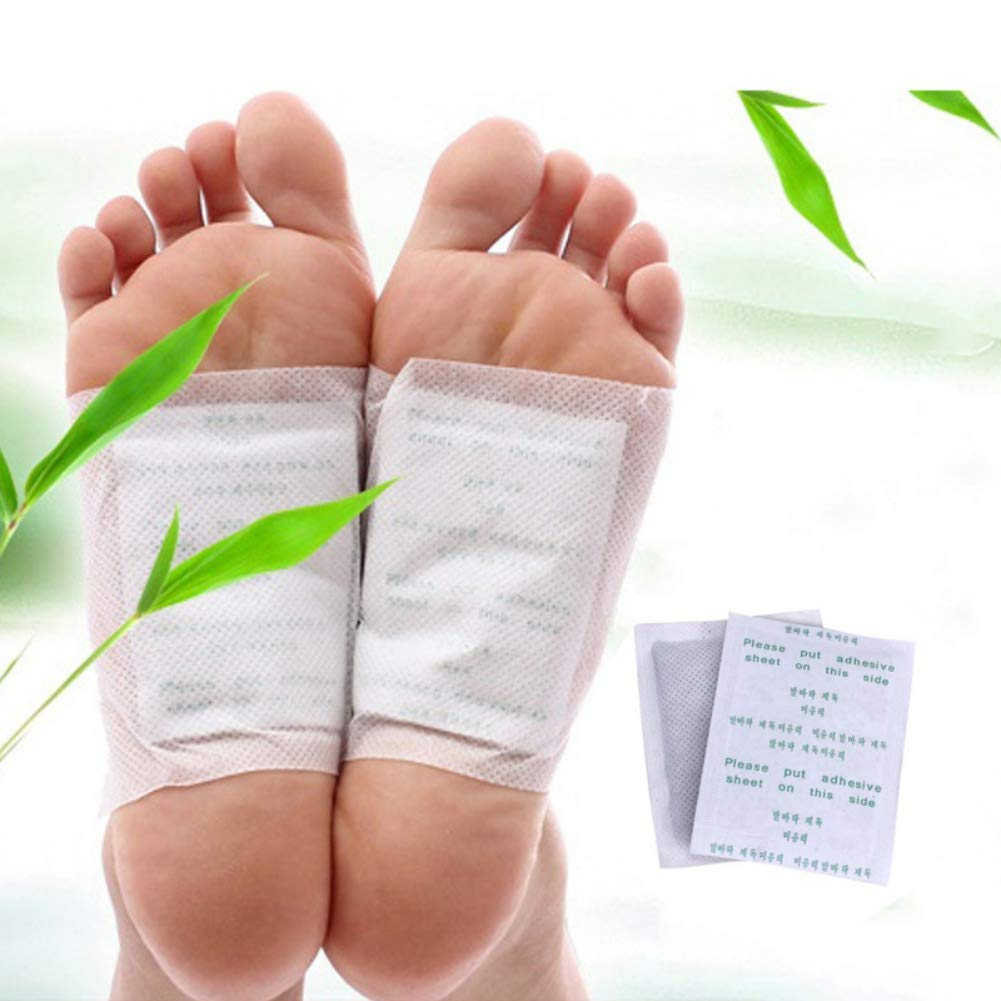 Symeas Health Detox Foot Patches Promote Circulation Sleep & Relieves Fatigue Bamboo Vinegar Foot Patch Foot Patch for Detox Bamboo Vinegar Foot Care Patch