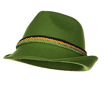 3a8a6d53ae49fb Image Unavailable. Image not available for. Colour: Green Alpine Bavarian  German Felt Hat Oktoberfest Halloween Costume