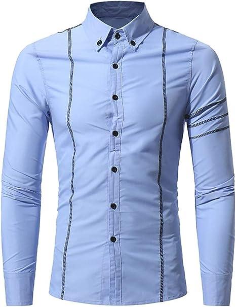 YaXuan Camisas para Hombres, Personalidad de la Moda para ...