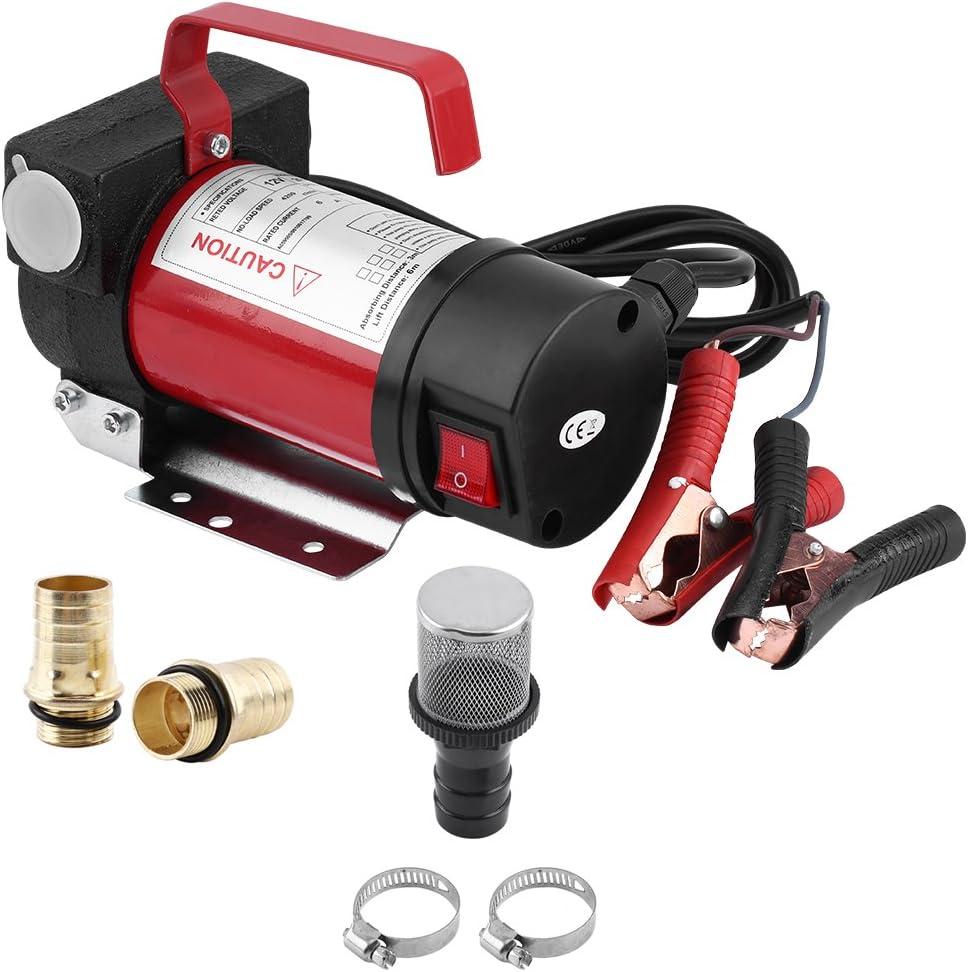 Bomba Diesel, 12V 160W Bomba de Transferencia eléctrica portátil para el Coche, Moto, Tasa de Flujo máxima: 40 l/min
