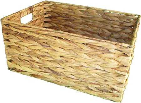 Cesta rectangular de mimbre -tamano mas grande: Amazon.es: Jardín