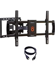 "ECHOGEAR Full Motion Articulating TV Wall Mount Bracket for Most 37-70 inch LED, LCD, OLED and Plasma Flat Screen TVs w/VESA Patterns up to 600 x 400-16"" Extension - EGLF1-BK"