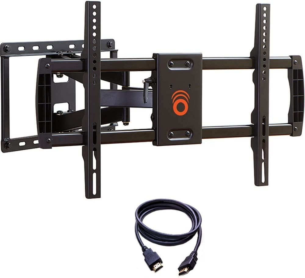 ECHOGEAR Full Motion Articulating TV Wall Mount Bracket for Most 37-70 inch LED, LCD, OLED and Plasma Flat Screen TVs w/VESA Patterns