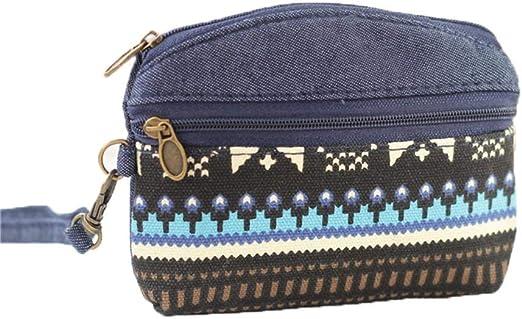 Lubier 1 Pieza Monederos de Mujer de Tejido Portátil Mini Monedero Pequeño Cremallera Bolsa de Almacenamiento de Algodón Sanitario: Amazon.es: Belleza