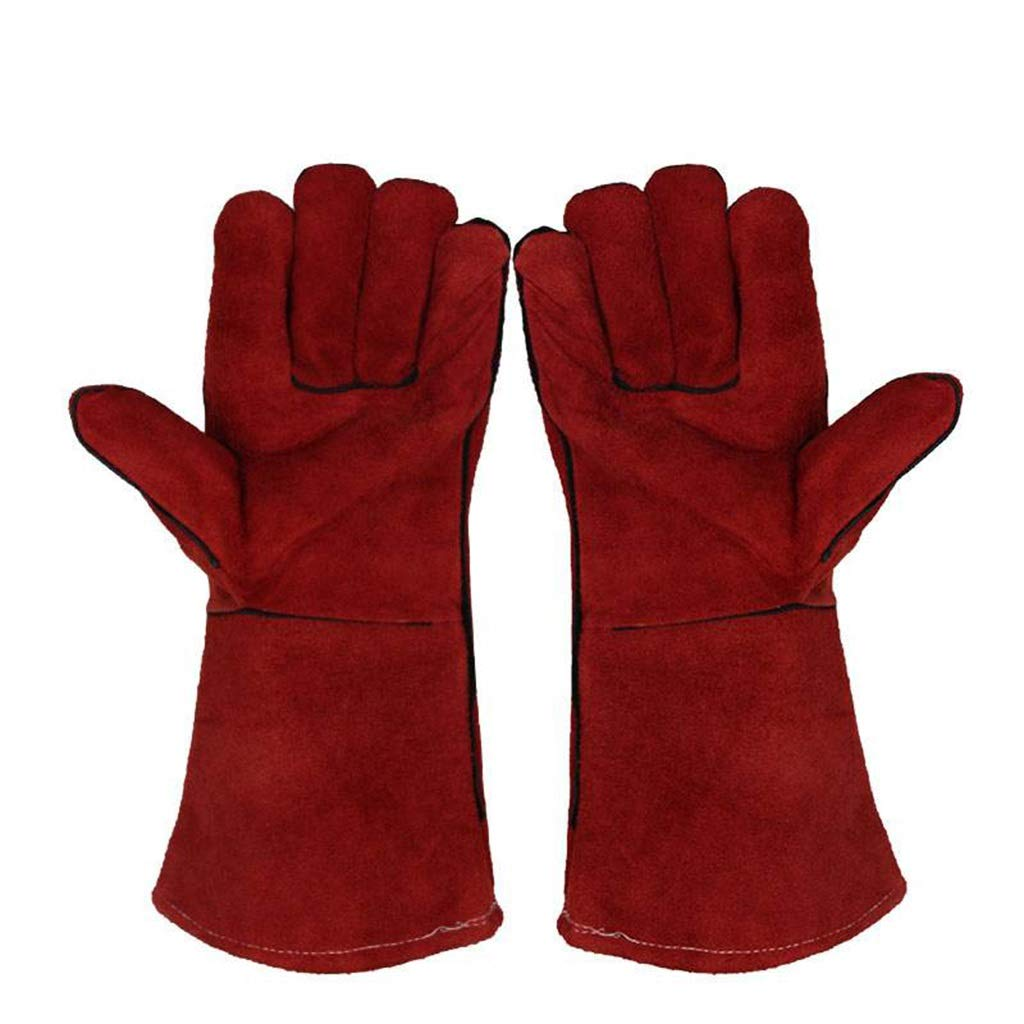 YANGBM Gardening Protective Gloves, Arm Guard Long Barrel Wear-Resistant Gloves, Heat-Resistant High-Temperature Welding Gloves Gardening Gloves