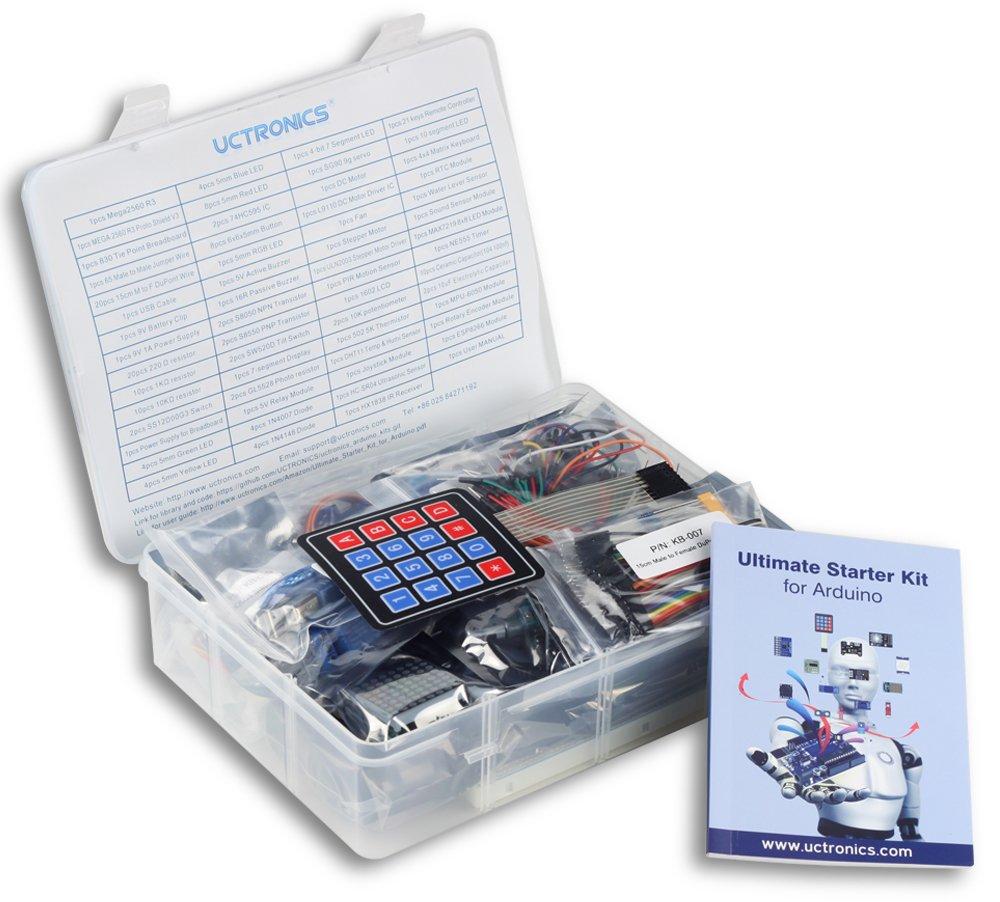 Uctronics Ultimate Starter Kit For Arduino With Basics Relay Module Instruction Booklet Mega 2560 R3 Esp8266 1602 Lcd Ne555 Timer Rtc