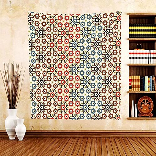 Gzhihine Custom tapestry Abstract Tapestry Vector Seamless Islamic Pattern with Ethnic Motifs Decorations for Home Print for Bedroom Living Room Dorm Brown and Beige by Gzhihine