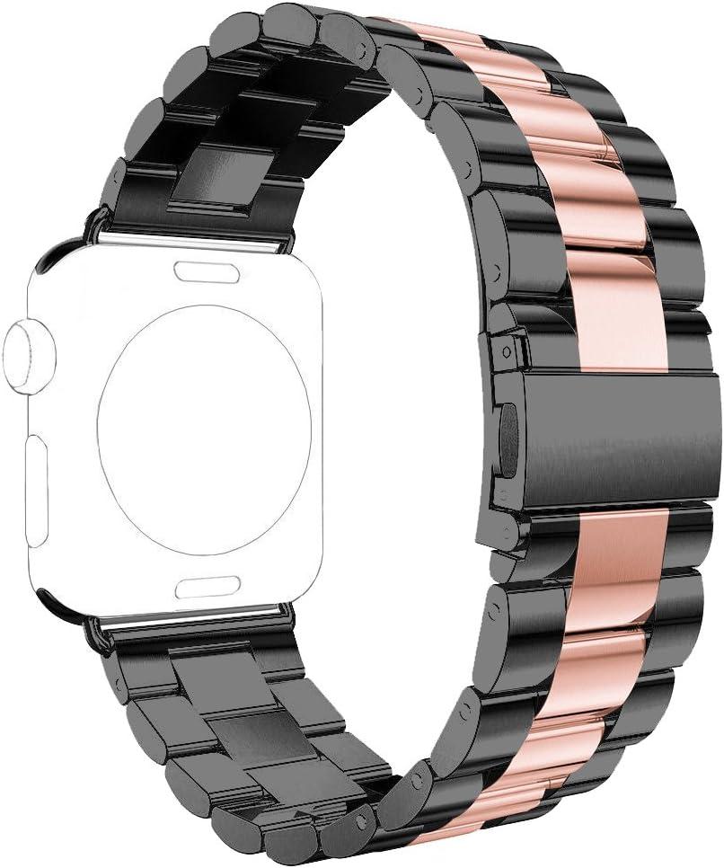 Correas para Apple Watch,Correa para Apple Watch 42mm Correas iWatch Rosa Schleife® Correa Acero para Apple Watch Series 2 Series 1 Banda Pulsera iWatch Reemplazo de Reloj Bracelet 42mm Pulseras