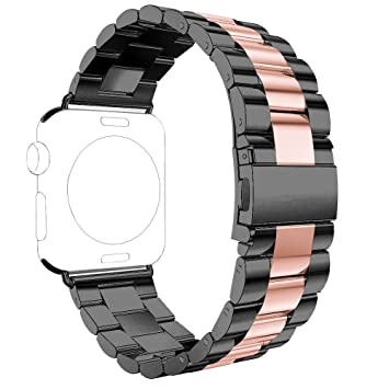 Correas Apple Watch,Correa Apple Watch 38mm Correas iWatch Rosa Schleife® Correa Acero Apple Watch Series 2 Series 1 Banda Pulsera iWatch Reemplazo de ...