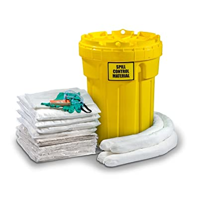 ESP SK-O30 56 Piece 30 Gallons Oil Only Absorbent Ecofriendly Spill Kit, 24 Gallons Absorbency, White: Industrial & Scientific