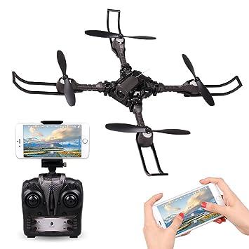 Drone RC con Cámara APP Control Rolytoy RC Quadcopter Plegable ...