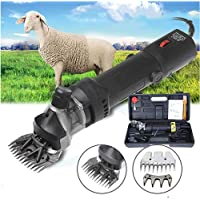 Sinbide 690W - Cortapelos eléctrico profesional para oveja animales oveja lana de cabra, color negro