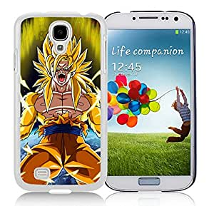 Hot Sale Samsung Galaxy S4 I9500 Case ,Popular And Unique Designed With Dragon Ball Z (3) White Samsung Galaxy S4 I9500 High Quality Cover