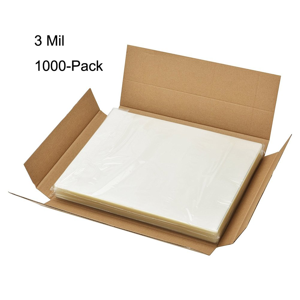 BESTEASY 3 Mil Clear Letter Size Thermal Laminating Pouches, 8.9'' x 11.4'', Pack of 1000