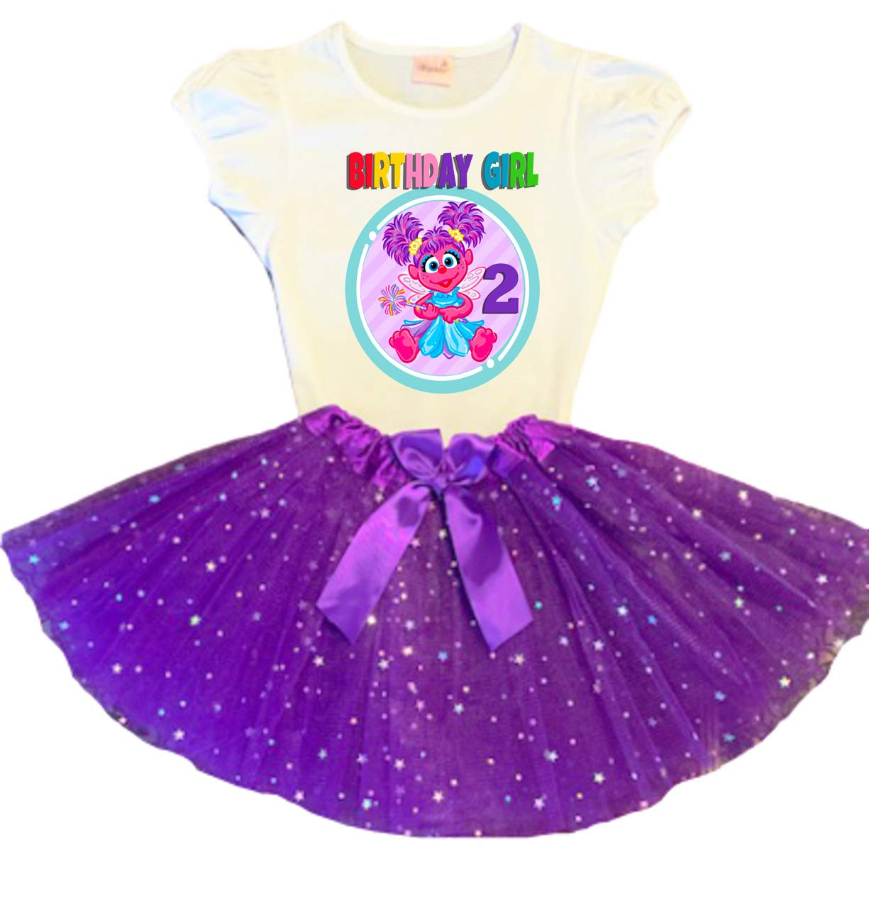 Abby Cadabby Birthday Shirt Tutu Set Two Legit To Quit Birthday Outfit Abby Cadabby Second Birthday Outfit Girls Second Birthday Outfit