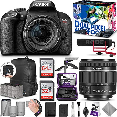 Canon EOS Rebel T7i with 18-55mm is STM and Video Creator Kit with Altura Photo Advanced Accessory and Travel Bundle