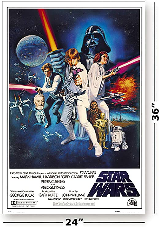 STARS WARS VI Classic Poster Picture Print Sizes A5 to A0 **FREE DELIVERY**