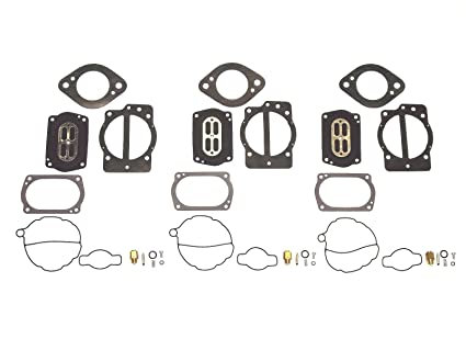 Amazon com: Triple Carb Rebuild Kit Compatible with Kawasaki