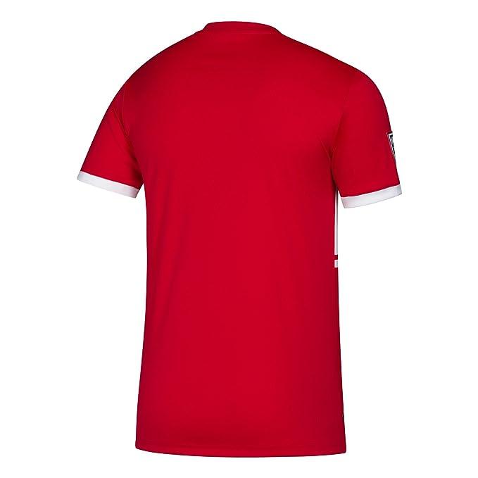 adidas Camiseta con logotipo de equipo, réplica - 7417A AZN, XL, Escarlata: Amazon.es: Deportes y aire libre